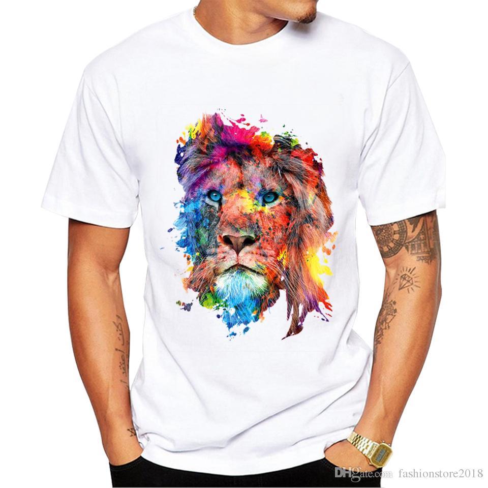 7cb982dc 2018 Lion T-shirt Men/Women 3d Print Colorful Hip Hop Animal TShirts Summer  Tops Tees Fashion 3d shirts