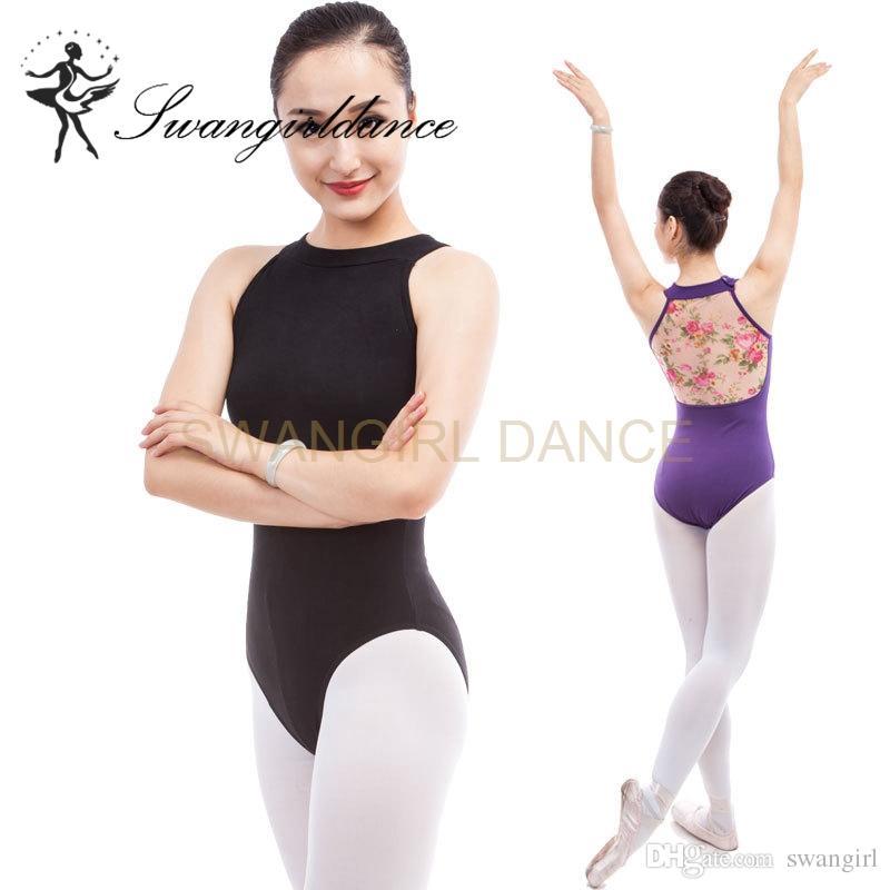 7732f5152 2019 Sexy Turtleneck Sleeveless Women Ballet Leotards Dance ...