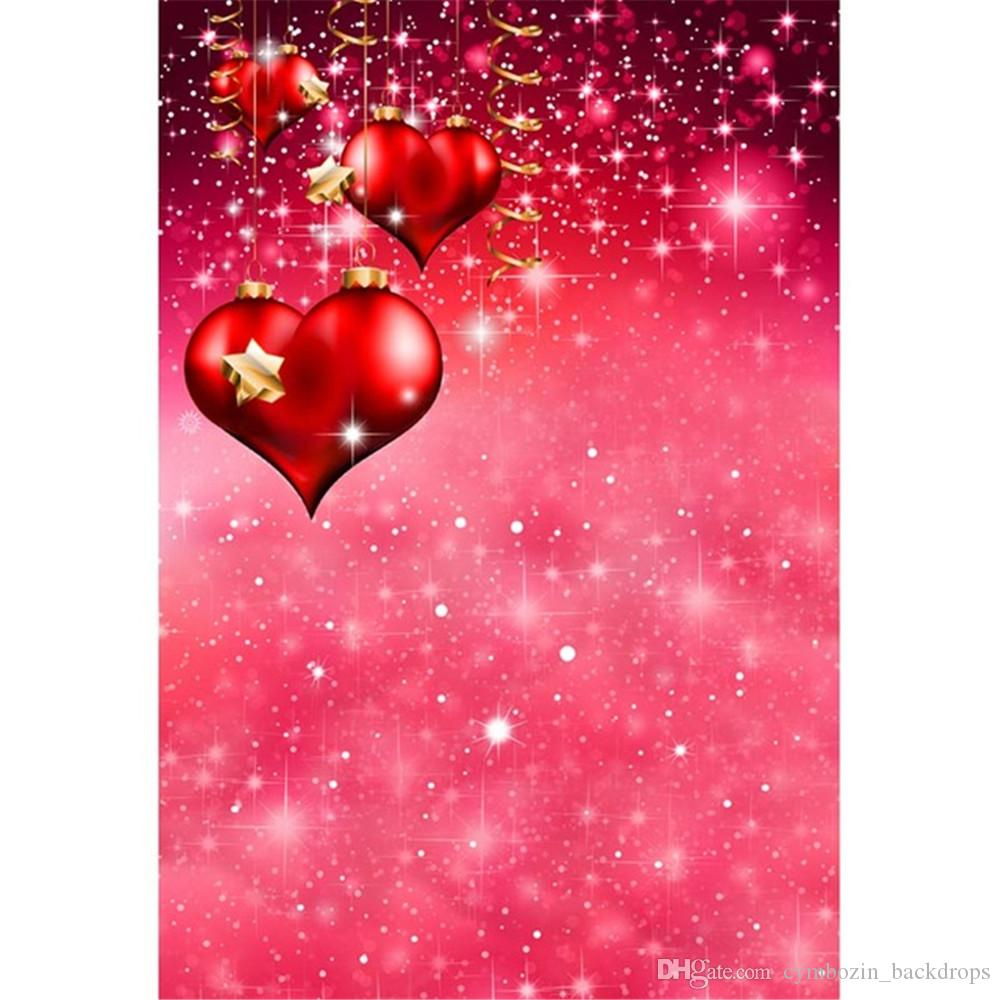 2018 romantic red love hearts valentines day photography backdrops