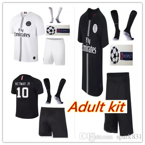 half off 09483 15f57 2019 PSG 3RD Soccer Jerseys 18 19 adult Kit MBAPPE DI MARIA T SILVA  CHAMPIONS LEAGUE CAVANI Paris 2018 Football Shirts Uniform Men Sets
