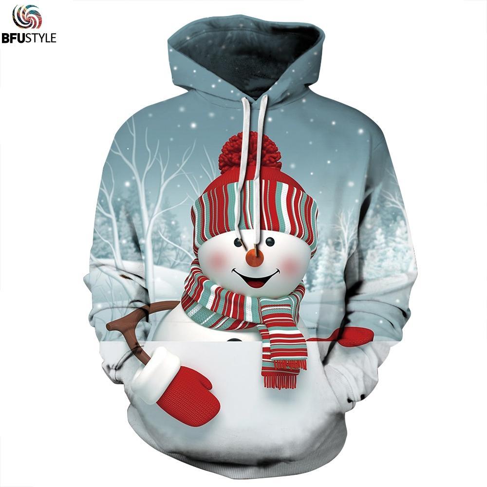 f50fc9ad7d 2018 Christmas Hoodies Snowman Funny Print Men Women Sweatshirts Autumn  Winter Warm Hooded Hoody Tracksuits Sudadera Hombre Hoodies   Sweatshirts  Cheap ...