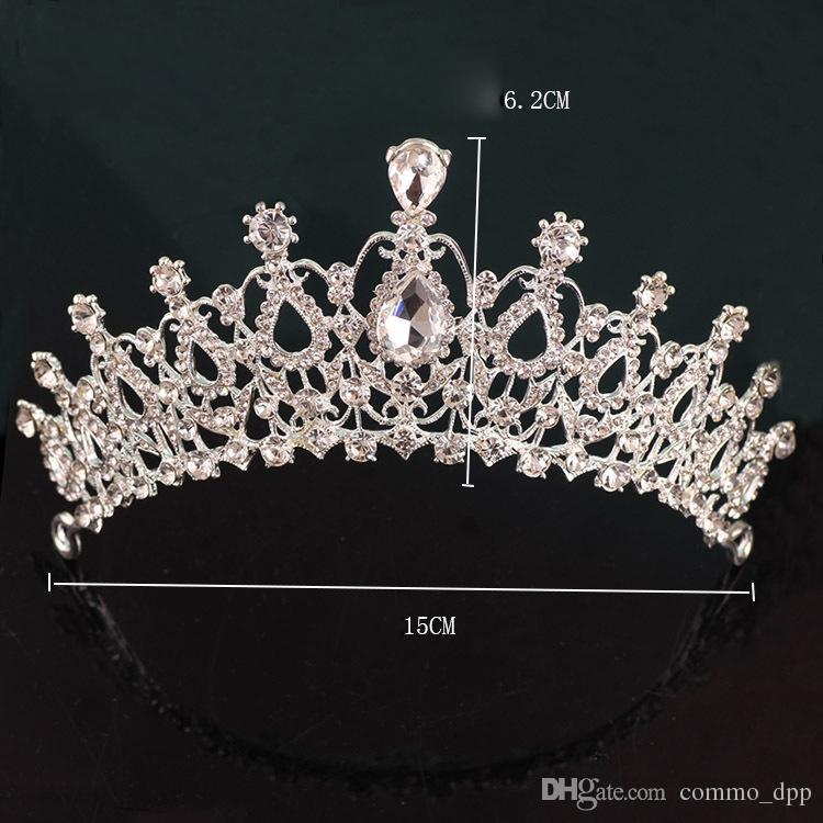 Neue Hochzeitsparty Schmuck Kristalle Braut Tiaras für Frauen Engagement Tiara Krone Stirnband Haarschmuck Mode Luxus Schmuck
