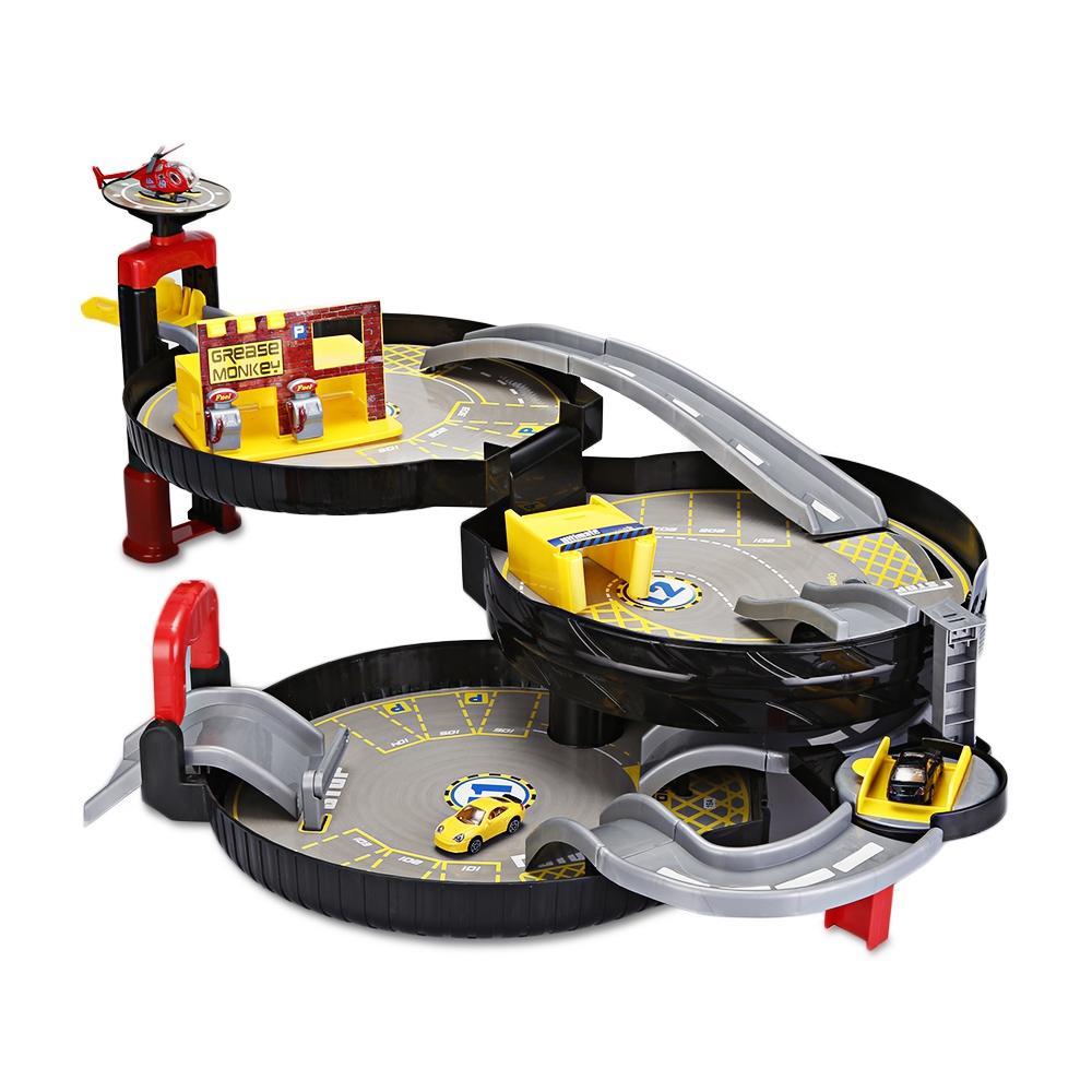 Portable Parking Garage >> 3 Levels Car Garage Play Set Parking Toys Model Building Kits Assembled Track Kids Educational Toys Parking Portable Tire Toys