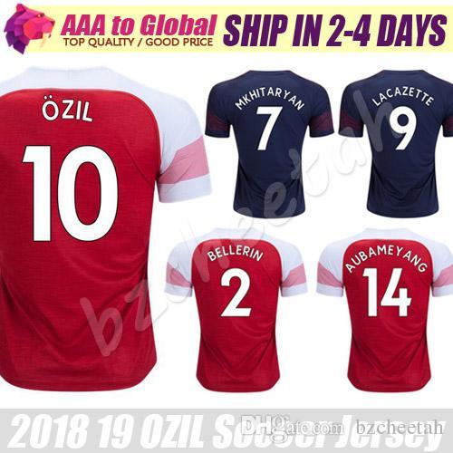 f6f7f8ebfeb 2019 Alexandre Lacazette Jersey 2019 Home FC ARS Ozil Ramsey Mkhitaryan Xhaka  Aubameyang Soccer Jersey Football Jerseys From Bzcheetah