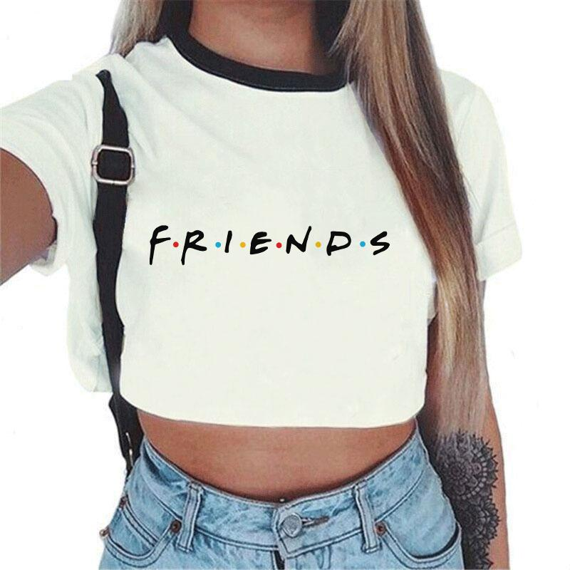 b988984a2ab572 Summer Tops For Women 2018 Streetwear Korean Kawaii Harajuku Vogue Best  Friends T Shirt Aesthetic Crop Top Graphic Tees Women Tee Shirts Online  Shopping T ...
