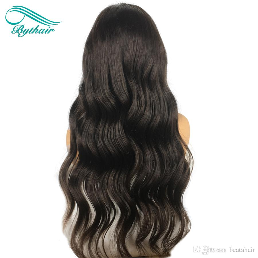 Bythair Full Lace Human Hair Wigs For Black Women Big Wavy Lace Front Wig Brazilian Virgin Hair Wigs With Baby Hair Bleached Knots