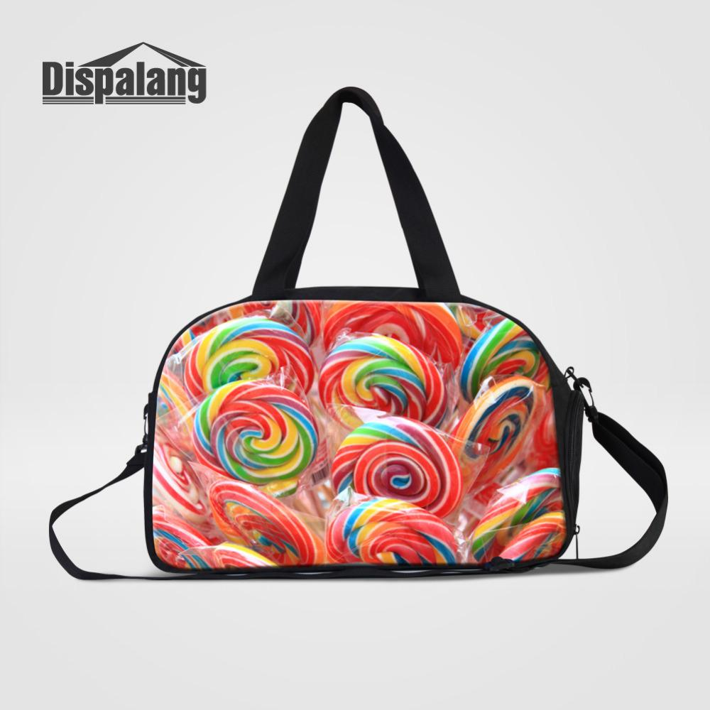 Dispalang Journey Bags Candy Print Womens Overnight Travel Duffel ... 73ed729b8b