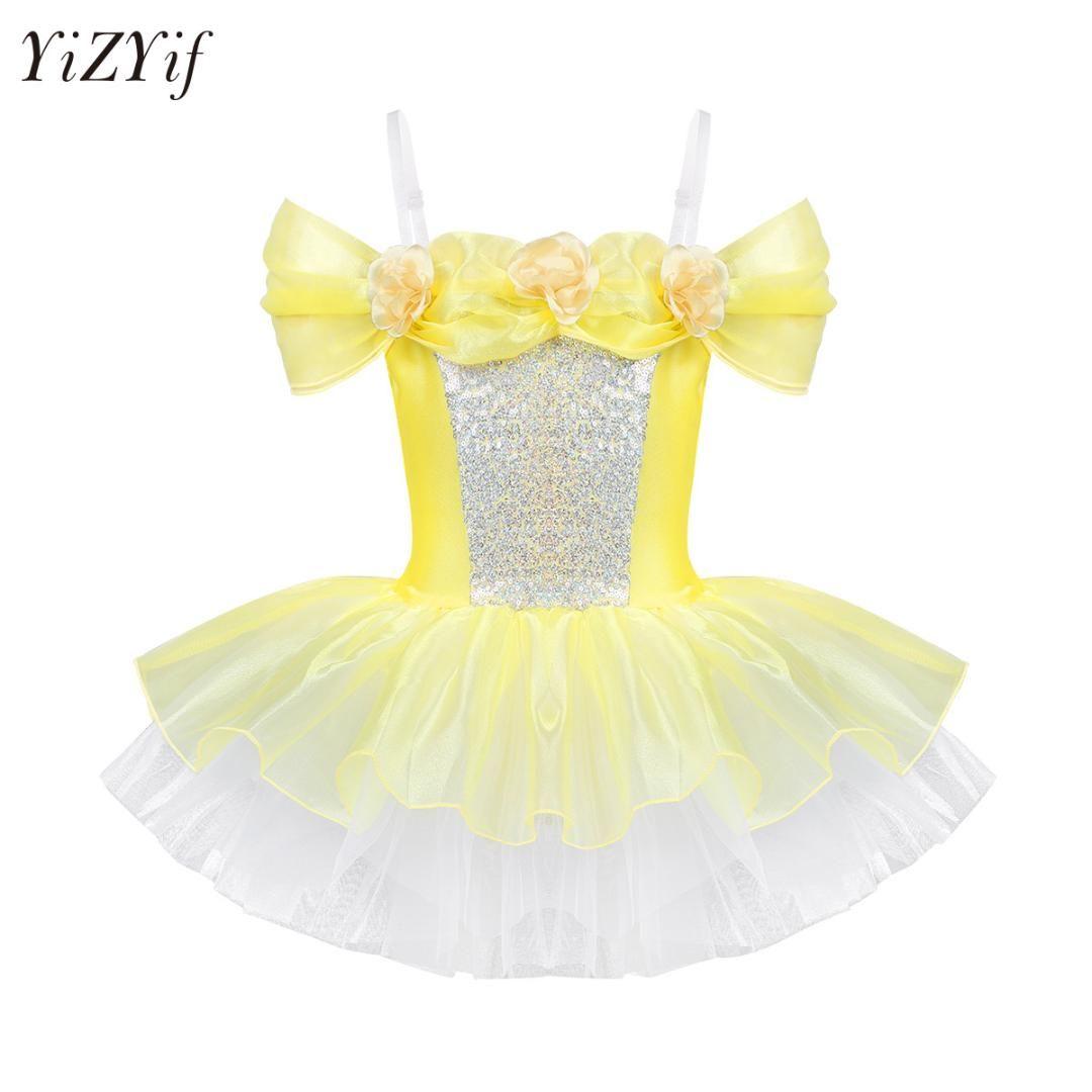 Leotards & Unitards Dresses Toddler Girls Gymnastics Leotard Dress Ballet Dance Tutu Skirt Ballerina Costume