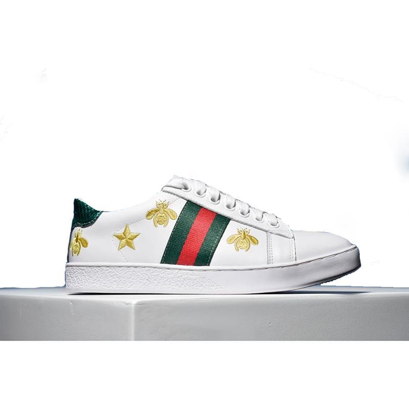 Scatola Zapatos Tigre Da Con Outlet Bel Cheapsshoes Cane Og Scarpe Di Donna Gallo Lusso Bianco Ape Casual Calcio Sneakers Lato Ricamo Sul wnaAxYPq