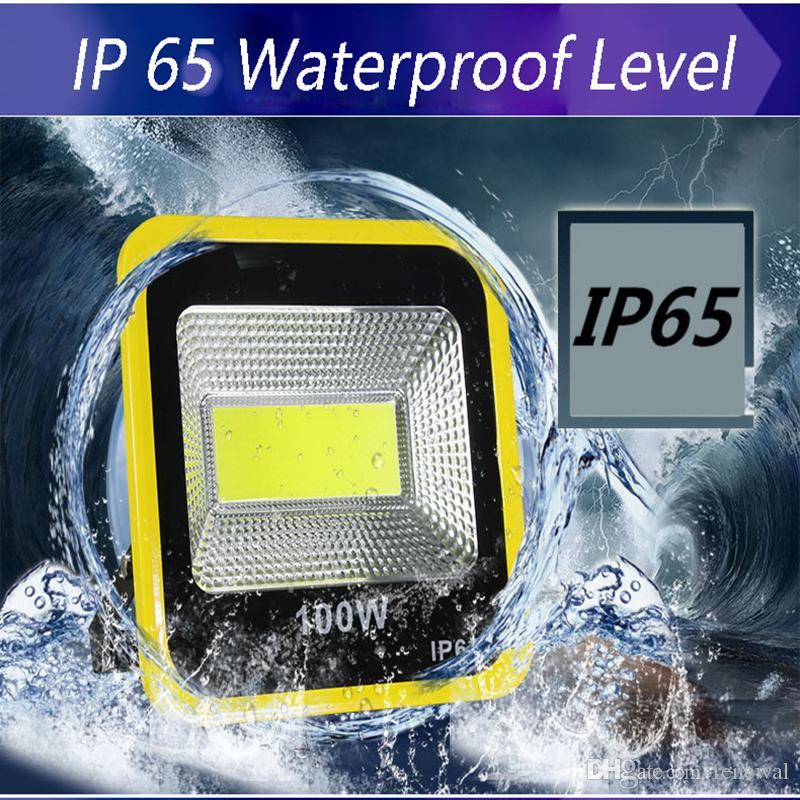 LED Sel Işık Su Geçirmez IP65 açık ışık 20 W 30 W 50 W 100 W 150 W 200 W 85-265 V LED Işıklandırmalı Spotlight Açık Duvar Lambası Için Fit