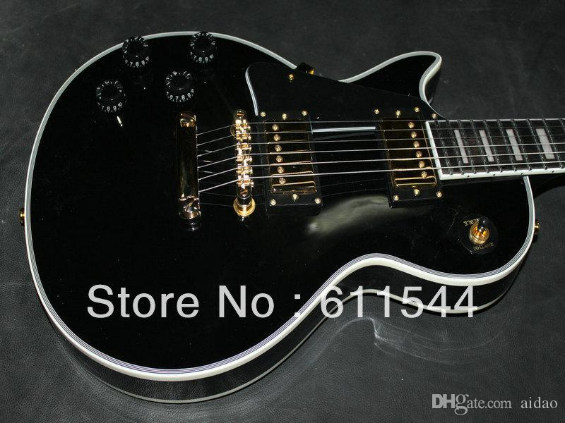 Black Beauty Custom Left Hand Electric Guitar High Quality Wholesale Free Shippin2018g