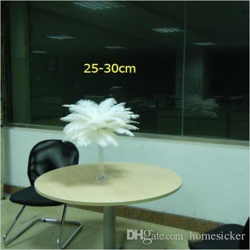 Высококачественный белый цвет страуса перья перья 16-18 дюймов для свадебных целевых форм вечеринки стола украшения дома