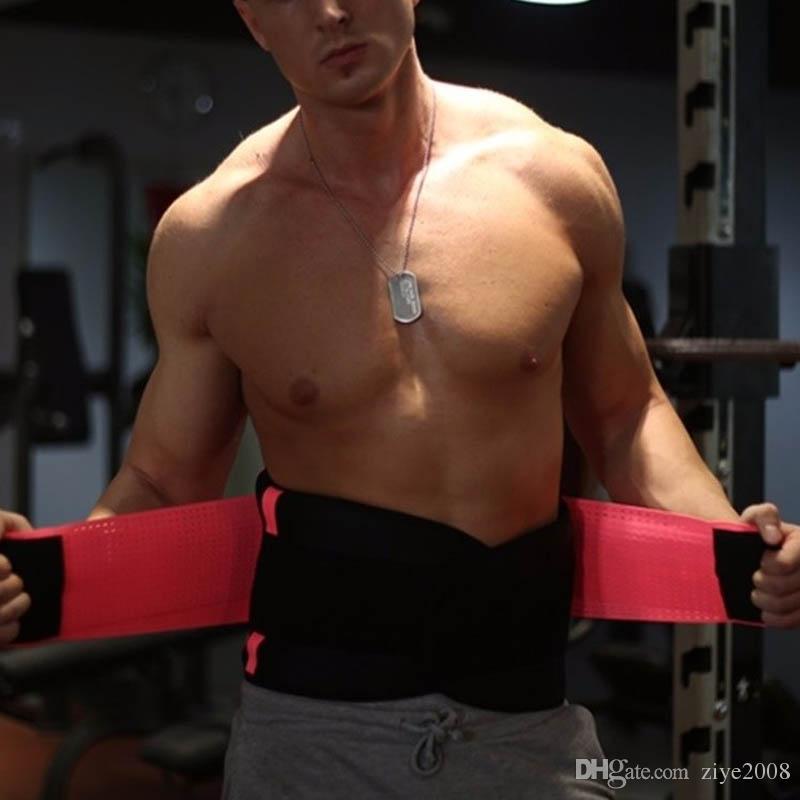 Adelgazar la cintura Recortador Unisex Quemar grasa Envolver Cinturón abdominal Cincher Deportes Corsé Pérdida de peso Cuerpo Shaper Soporte para la cintura