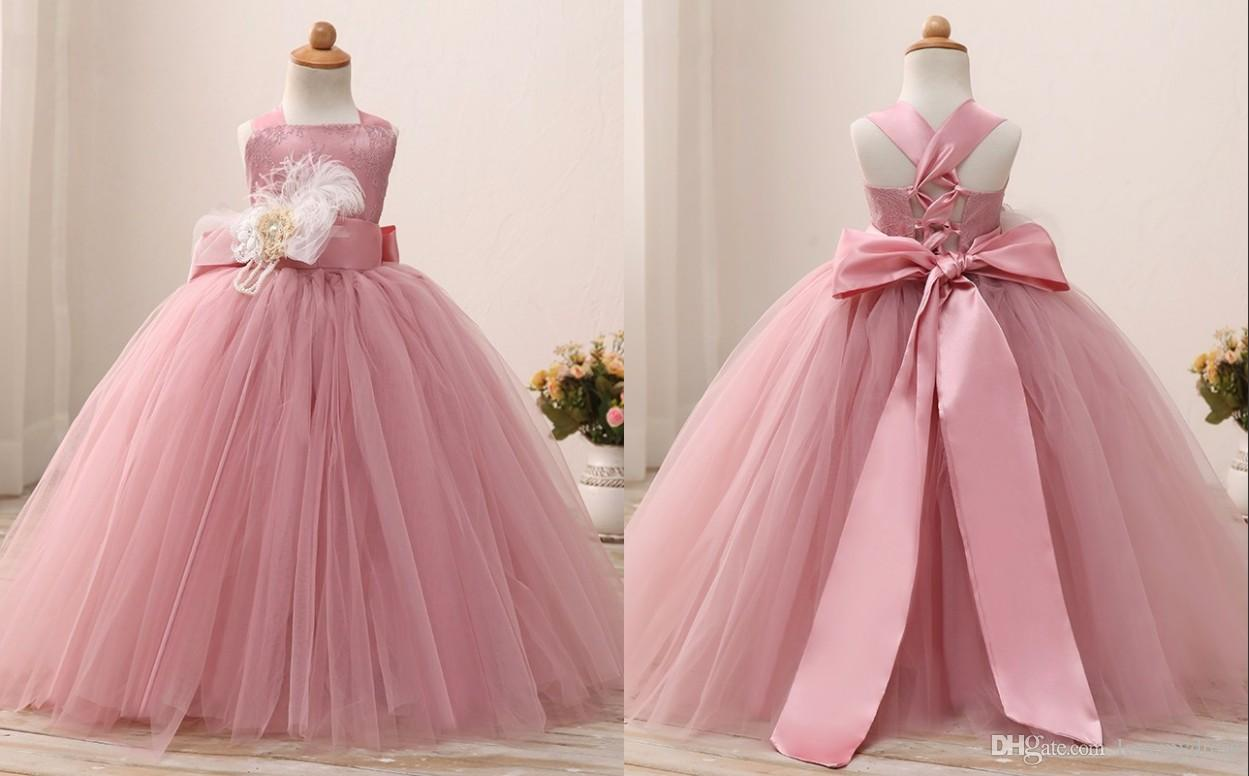 Actual Photo Ball Gowns For Little Girls With Straps Corset Back ...