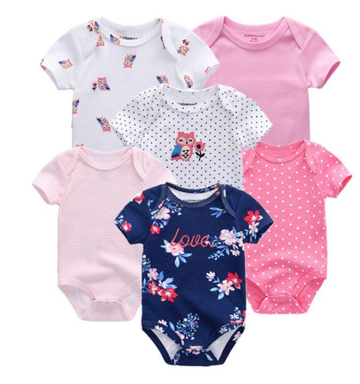 e3b83f530 Newborn Baby Bodysuits Short Sleevele Clothes O-neck 0-12M Jumpsuit ...
