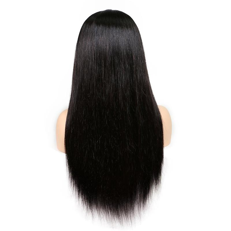 10A Silky Straight Full Lace Human Hair Wigs For Black Women Brazilian Human Hair Lace Front Wigs With Baby Hair 180 Density Wholesale
