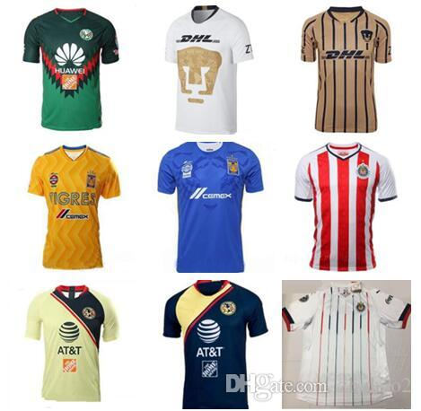 3a7fd54b1 2019 LIGA FC Soccer Jerseys America Chivas Guadalajara UNAM Rayados Tigres  UANL Football Shirt Kits Team Uniform Men From Zhuhao2