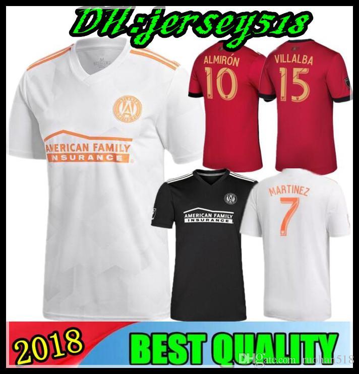 55c77bef8 Top Thai Quality 18 19 Atlanta United Soccer Jersey 2018 2019 GARZA JONES  VILLALBA MCCANN MARTINEZ ALMIRON FC Atlanta Away Football Shirt Soccer  Jersey ...