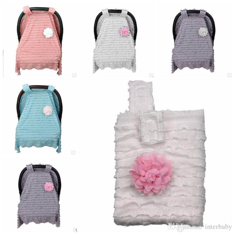 2019 Baby Car Seat Canopy Ins Lace Ruffle Baby Stroller Cover With