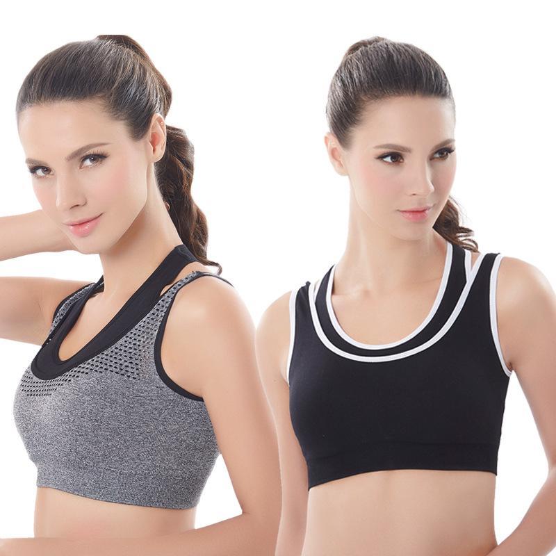 fac2380920671 2019 Soft Breathable Sports Bra Women Yoga Running Fitness Stretch Tank Top  Seamless Padded Bra Sports Bras From Hengda222