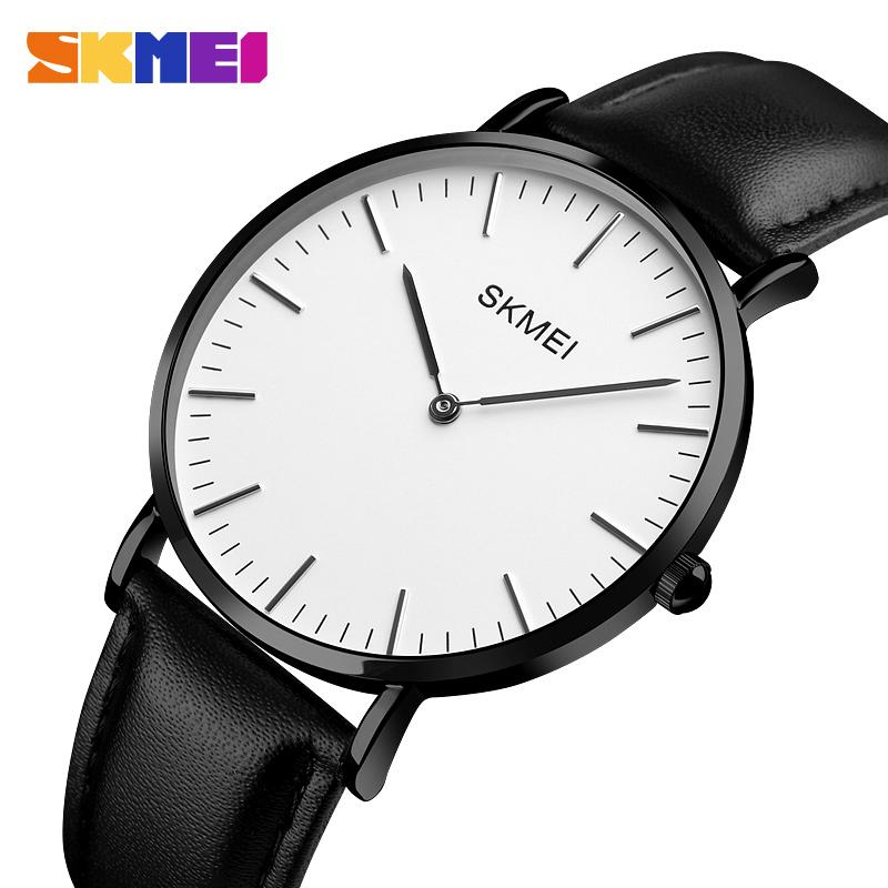 59e4601c0555 Compre SKMEI Moda Negro Mujer Pareja Relojes 2018 De Alta Calidad Ultra  Delgado Reloj De Cuarzo Elegante Vestido De Señoras Reloj Montre Femme 1181  A  25.02 ...