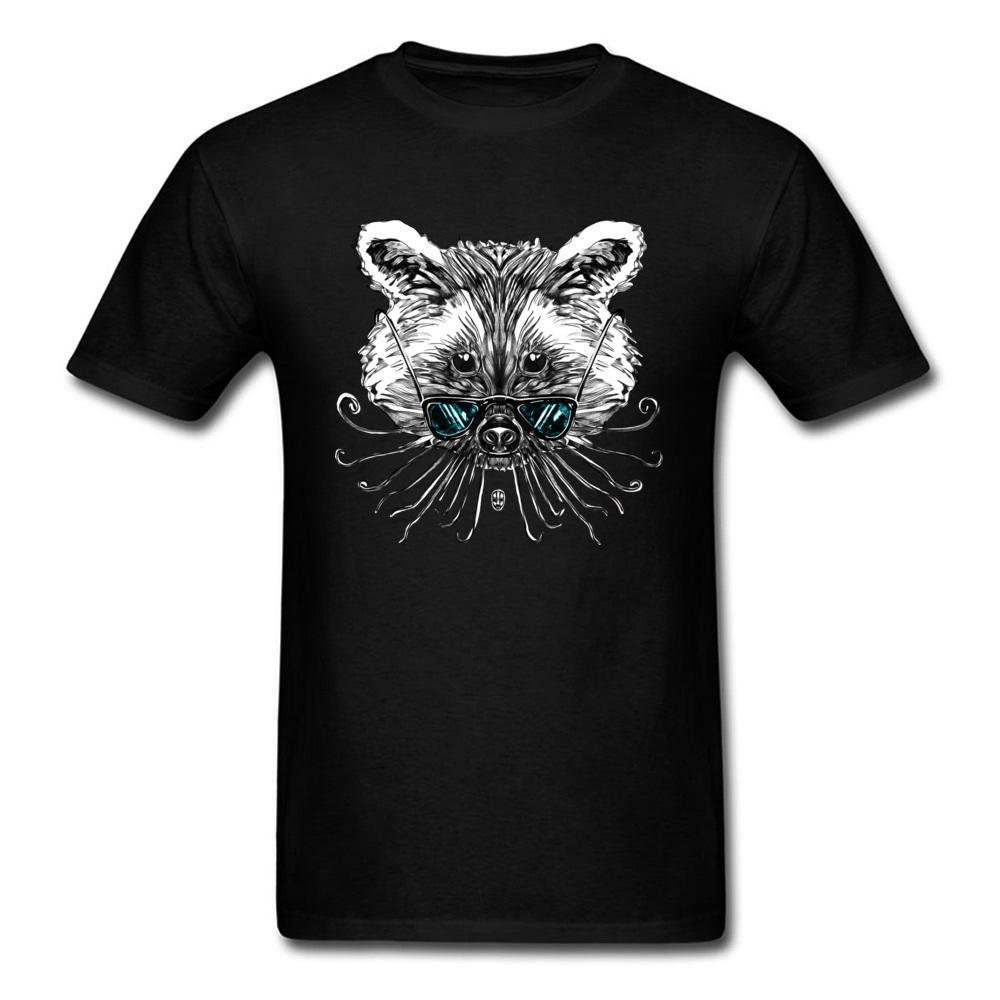 3fce64ac2074a Cool Raccoon T Shirt Funny Design Tshirts Mens Summer Clothes Black T Shirt  Cartoon Printed Hipster Tops Hip Hop Tee Oversized Solid Color T Shirts  Sites ...