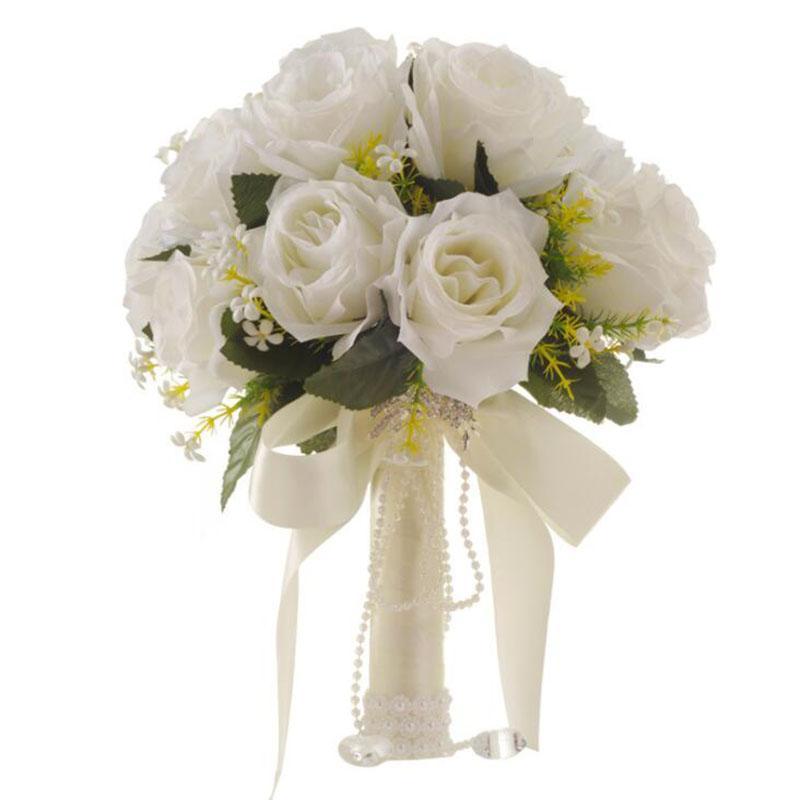 Grosshandel Braut Bouquet Blumen Fur Hochzeit Kreative Kunstliche