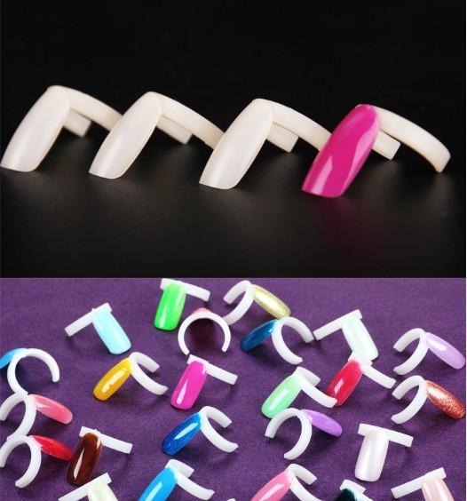 Esmalte de uñas Anillo de exhibición UV Gel Color Pops Pantalla Gel de uñas Acrílico Falso Práctica Anillo de color