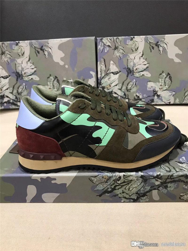 timeless design cdf49 d6727 2018VALENTINO Garavani Camustar Rock Runners Sneaker Shoes Italy Sneakers  With Box Online with  137.15 Pair on Lili811120 s Store   DHgate.com