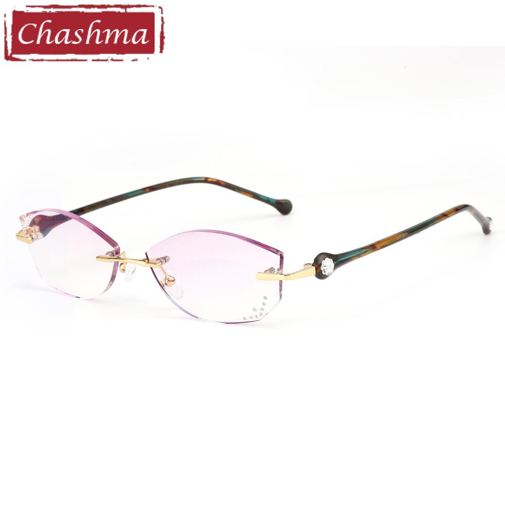 1f5d9419ae7 2019 Chashma Brand Women Diamond Trimmed Tint Lenses Glasses Frame Prescription  Spectacles Female Fashion Colored Stones Lenses From Arrowhead