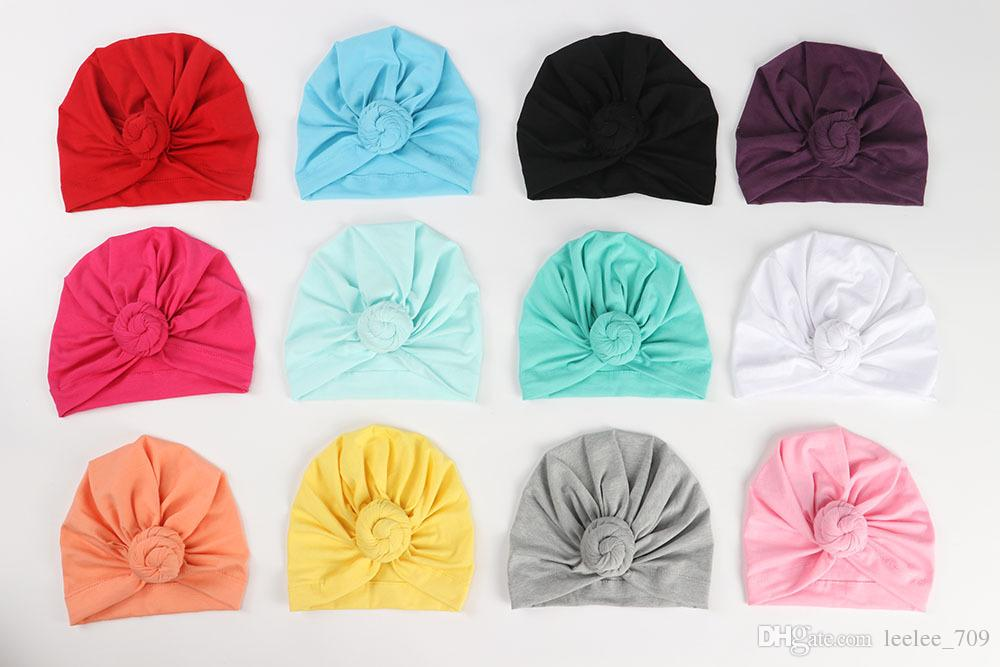 Newborn Baby Toddler Kids Rose Bowknot Soft Cotton Blend Hat Caps Clothes Accessories Christmas Gift
