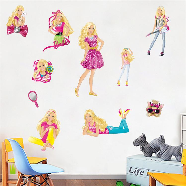 Pack Barbie Girls Wall Stickers Vinyl Decal Art Mural Removable ...
