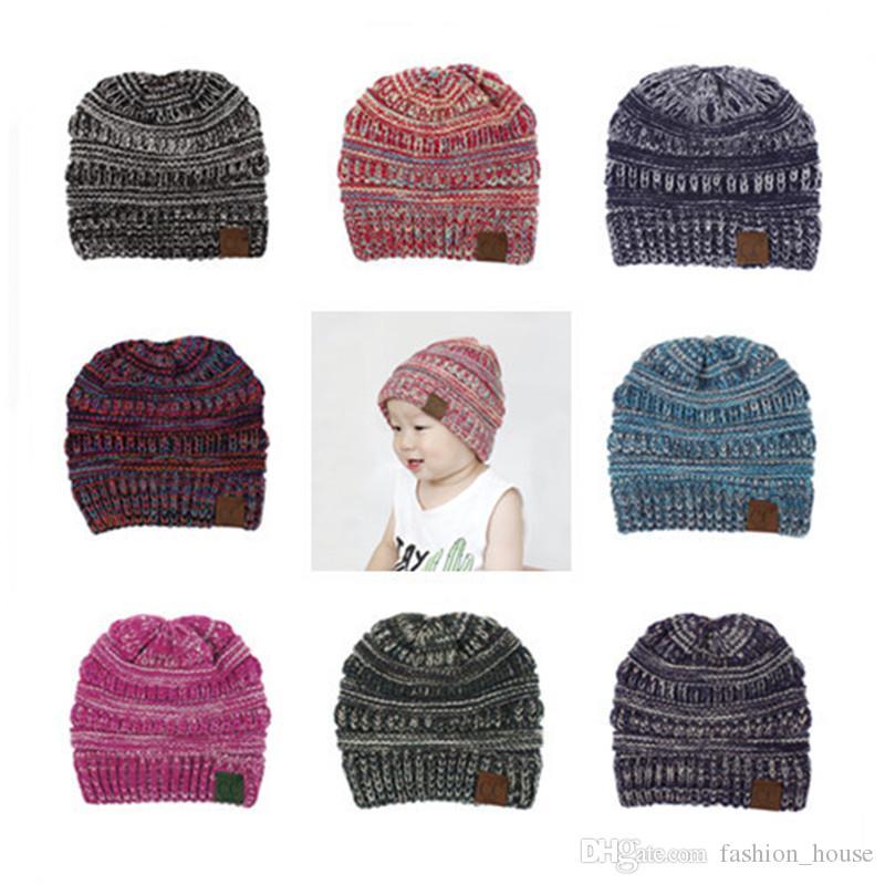 Großhandel Kinder Cc Mützen Trendy Knitted E Häkeln Jungen Mädchen