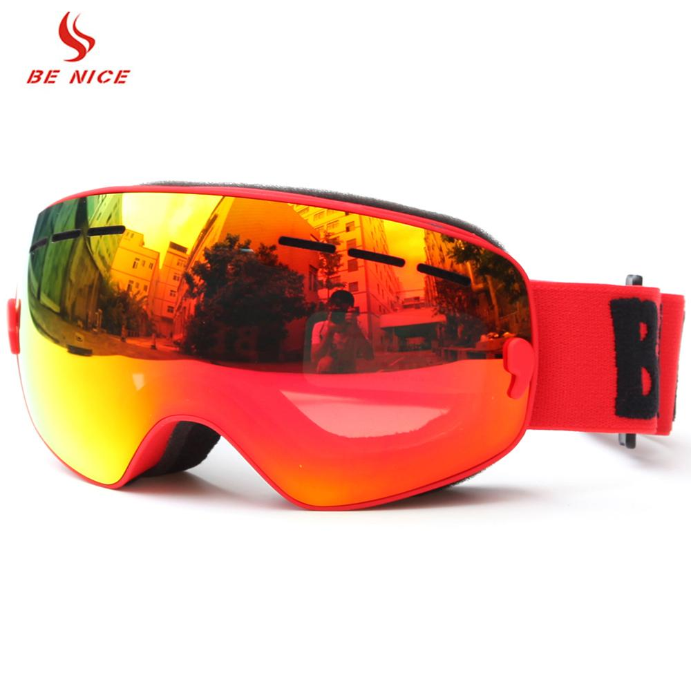 fb4d1c82d68 2019 BENICE SNOW 4300 Children Ski Goggles Skiing Eyewear Kids Glasses  Snowboarding Skating Goggles UV400 Anti Fog Goggles Ski Mask C18110301 From  Shen8402