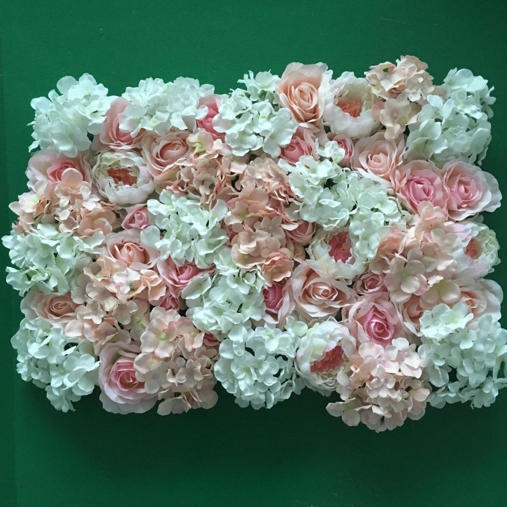 Artificial Silk Flower Wedding Road Lead Hydrangea Peony Wall Flower ...