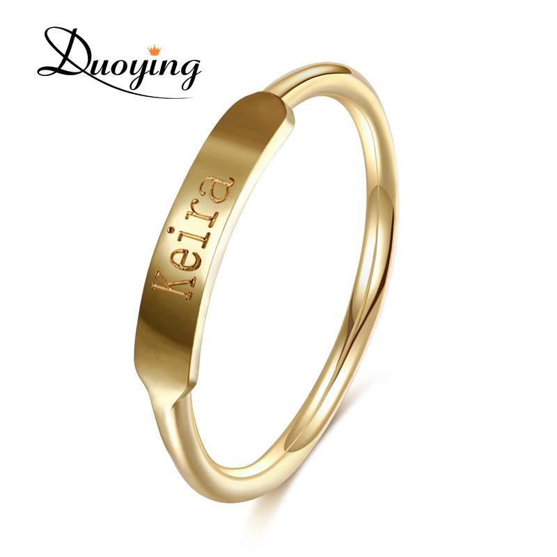 2019 Duoying Couples Custom Ring Name Engraved Graduation Present