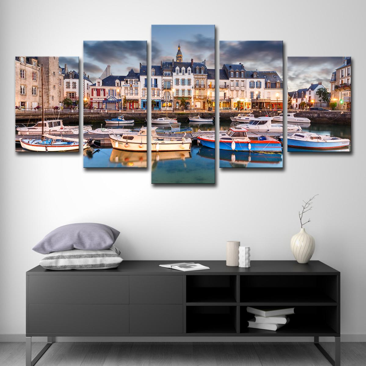 57844e591abf 2019 Modern Home Wall Decor Art Canvas Pictures Frame HD Printed Posters  France City Building Boats Sights Paintings From Xmqh2017