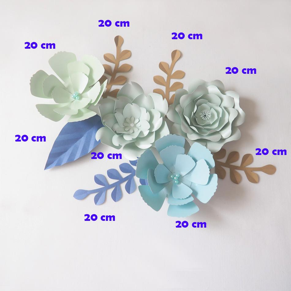 Diy Giant Paper Flowers Backdrop Artificial Handmade Mix Flower