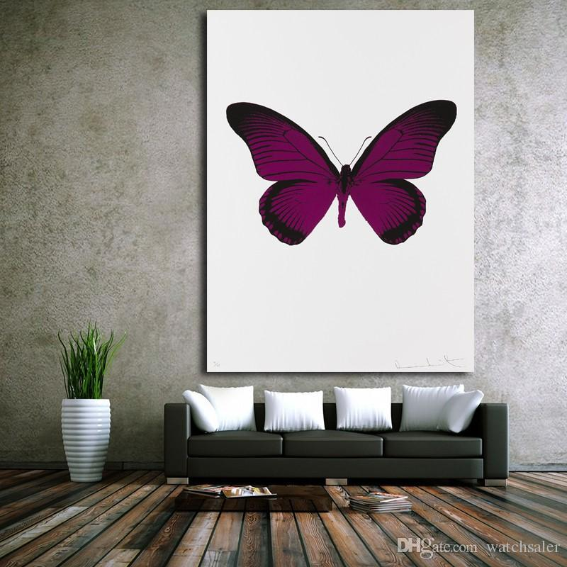 2019 1 Panel Purple Butterfly Pictures Modern Canvas Painting Wall