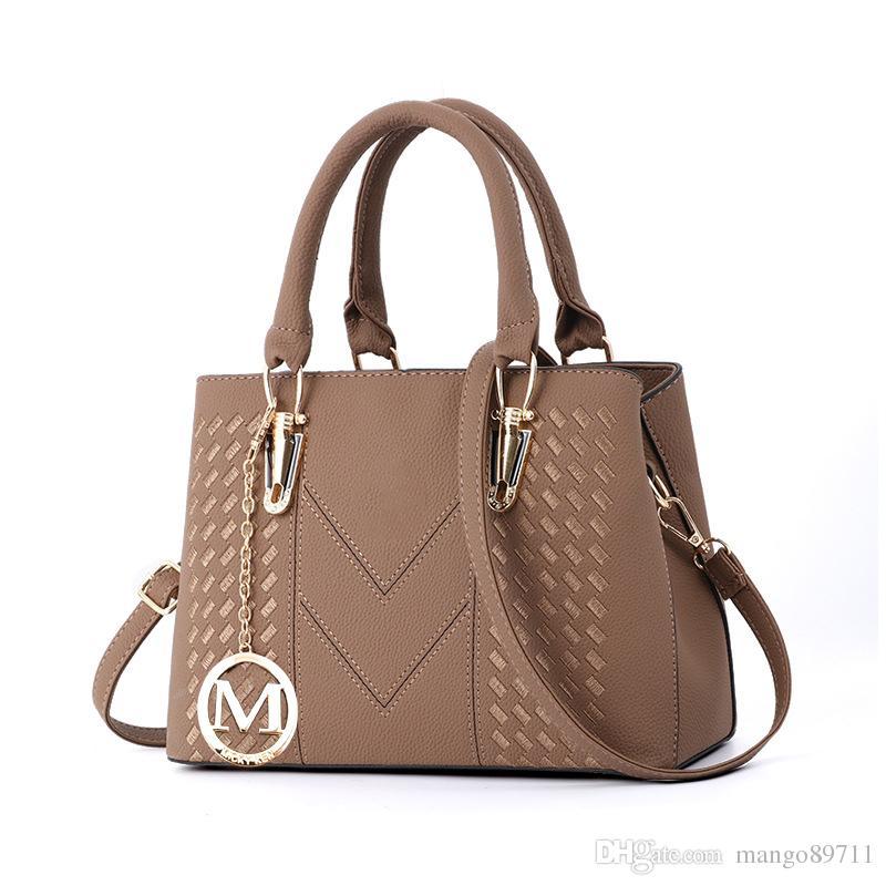 Women's Handtasche Elegantes Design Top Griff Damenmode Tasche Pu Leder Umhängetasche