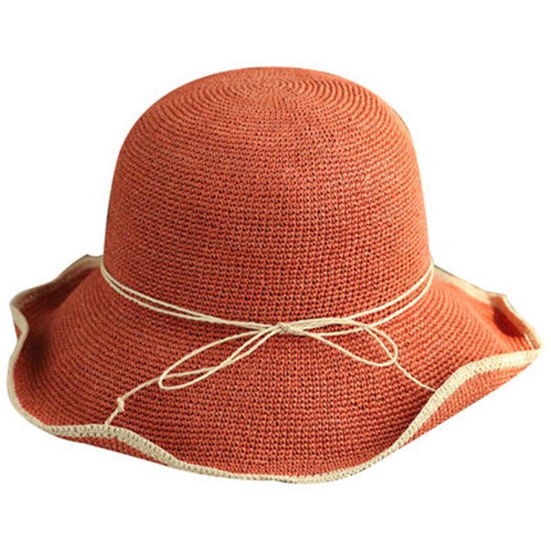 Compre Sombrero De Paja Femenino Verano Sol Sombrero Playa Vacaciones Ocio  Visera Gran Cuenca Pescador UD A  22.83 Del Value222  c70e60da339