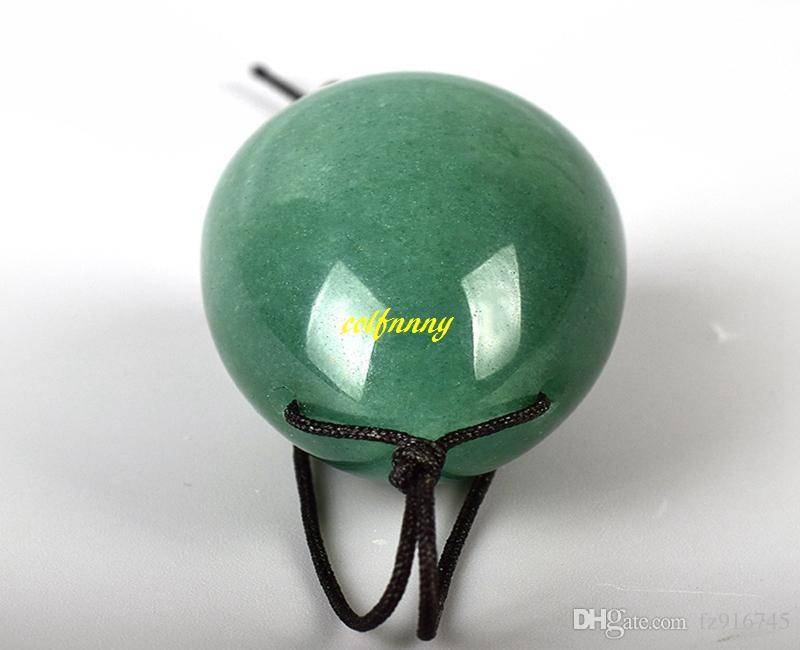 Green Aventurine Yoni Egg 11cm Crystal Massage Wand Jade Eggs Yoni Wand For Women Kegel Vaginal Ball Exerciser