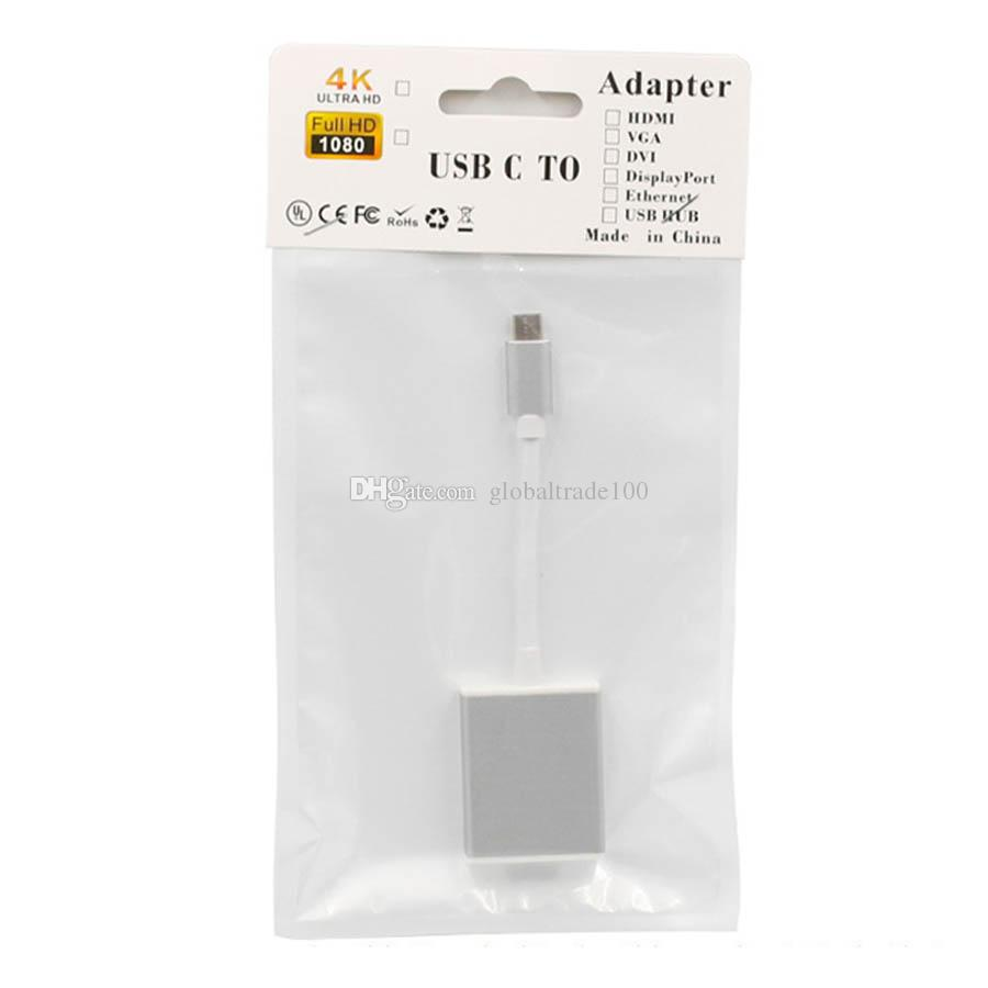 USB 3.1 Type C To HDMI Adapter Cable Male To Female USB-C To HDMI 1080P Converter For Macbook 12 inch Chromebook Pixel