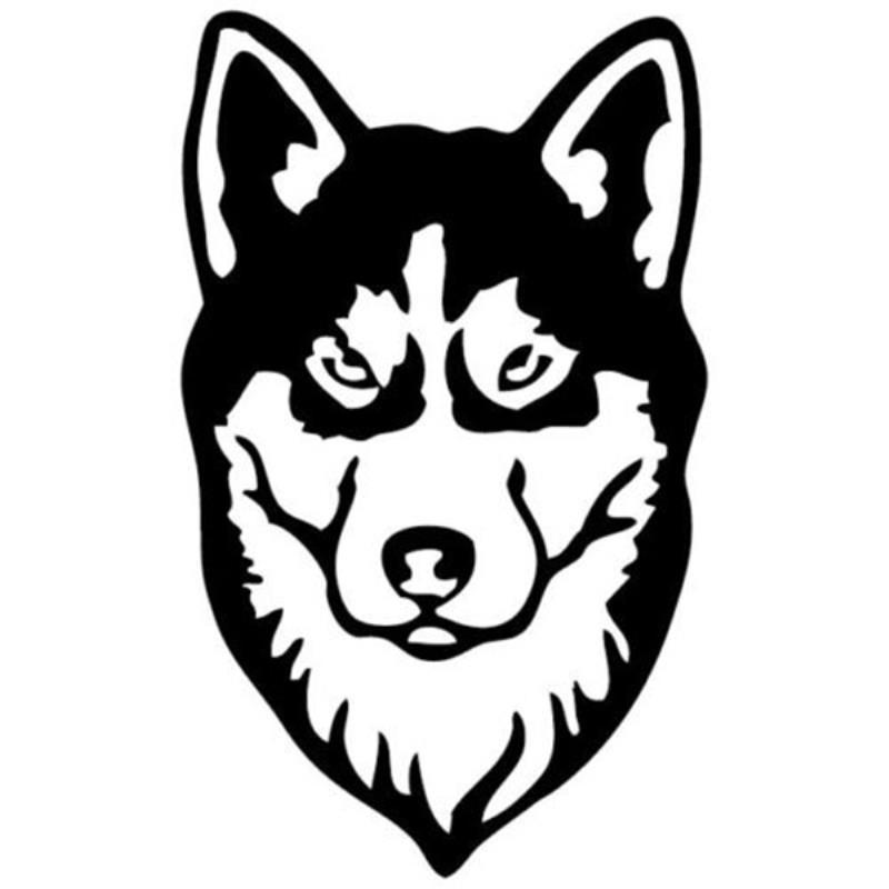 Hotmeini Wholesale Siberian Husky Car Sticker For Truck Window