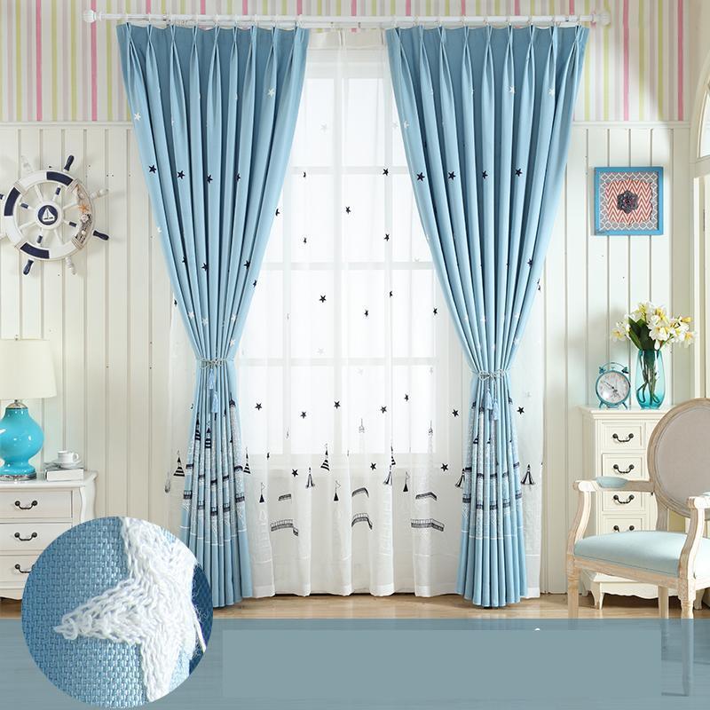 Tenda da camera per bambini camera da letto per ragazzi e ragazze Tenda  oscurante in lino per finestre della baia della Corea del Mediterraneo ...