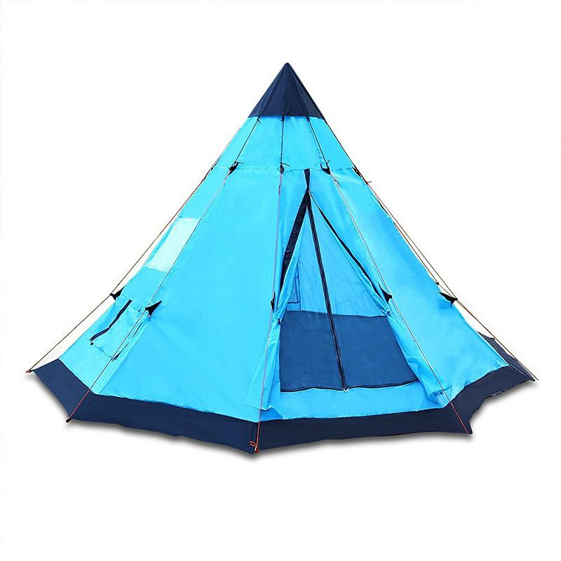 DANCHLE 3.4m Tipi Pop Up Tent Sky Blue 6 Person For Family C&ing And Traveling Teepee Tents 12x12u0027 Tents C&ing Gelert Tents From Jasperwu ...  sc 1 st  DHgate.com & DANCHLE 3.4m Tipi Pop Up Tent Sky Blue 6 Person For Family Camping ...