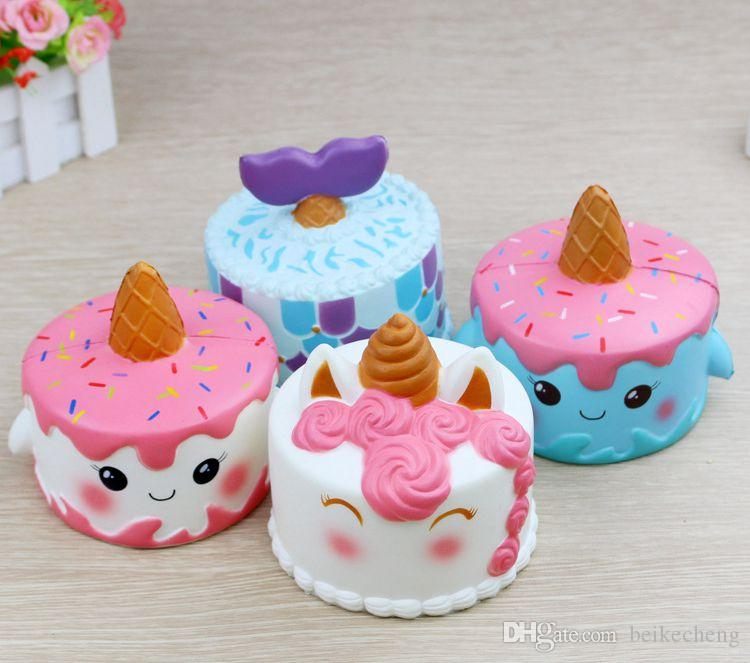 Delivery Moogle Birthday Card Final Fantasy Themed: 11cm Jumbo Squishy Cute Unicorn Cake Squishies Super Slow