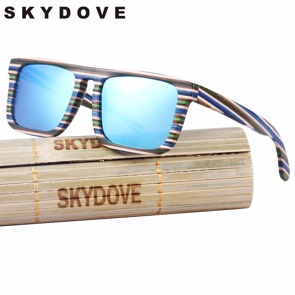 deca2bdf74a SKYDOVE Coold Wooden Sunglasses Women Zebra Stripe Wood Skateboard  Sunglasses Polarized Handmade Wood Men Bamboo Wiley X Sunglasses Mirror  Sunglasses From ...