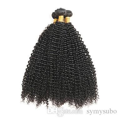 9.5-8% discount Brazilian Remy Hair Weave Brazilian Kinky Curly Hair 100% Human Hair Extensions