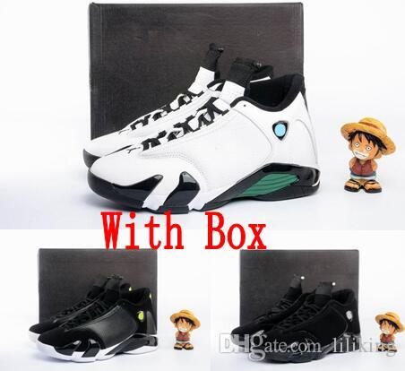 180158e6712063 2019 14 XIV Oxidized Green Indiglo Thunder Playoffs Black Cat Toe 14s AAA  Men Basketball Shoes Sneaker Last Shot Sport Shoes From Liliking
